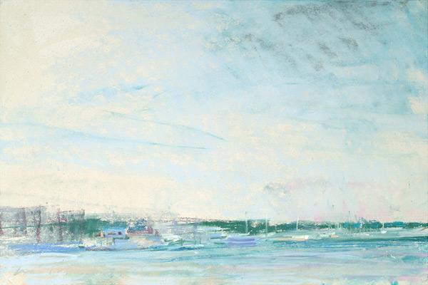 "Annapolis (I); pastel on paper; 18""x11.5"""