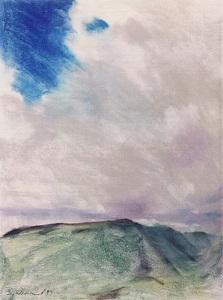 """Opolu Point (II); pastel on paper; 24""""x18"""""""