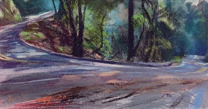Panoramic Highway; pastel on paper