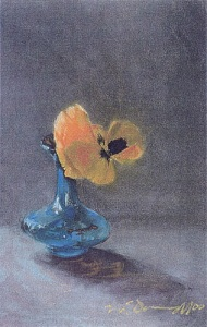 "Pansy; pastel on paper; 23""x17"""