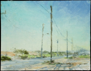 "Strathmere; oil on board; 6.5""x8.5"""