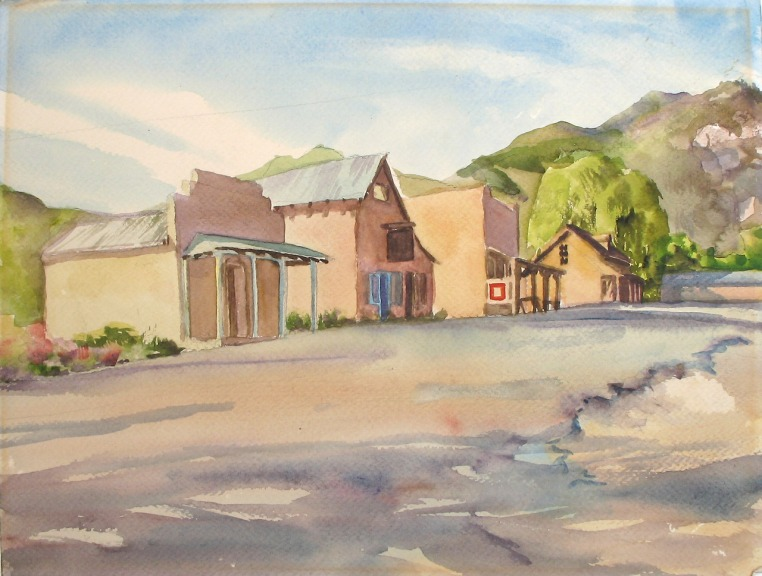 "North of Taos; watercolor on paper; 17""x13"""