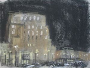 "Strawbridge Building; pastel on paper; 12""x9"""