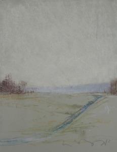 "Wells Street (II); pastel on paper; 11""x14"""